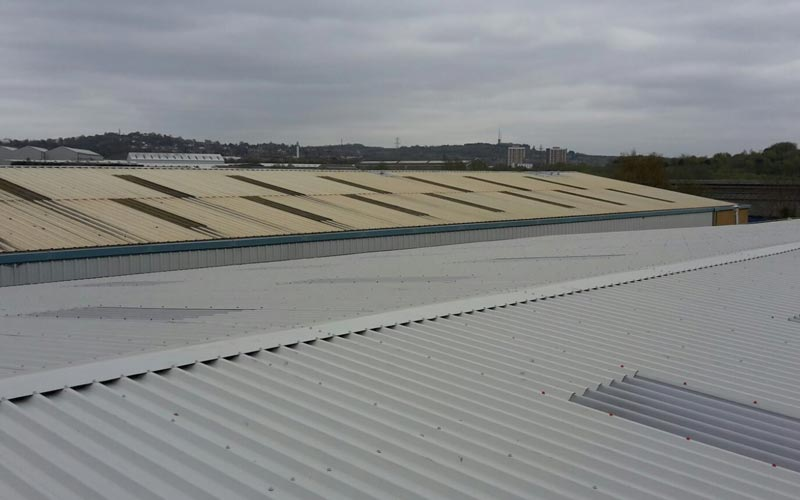 New and old industrial roofing in Birmingham