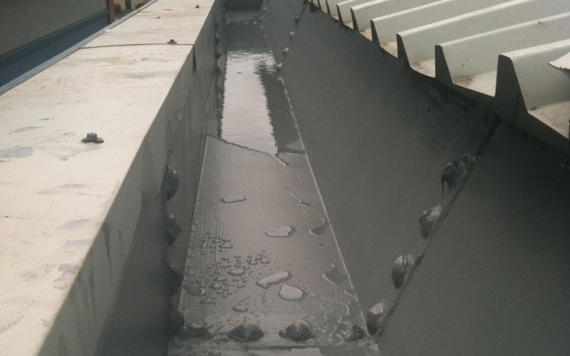 Industrial gutter treated with Giromax