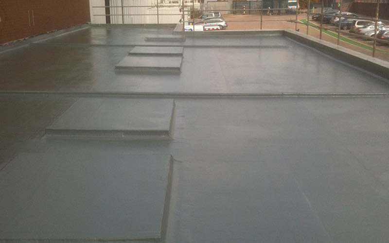 Completed GRP fibreglass roofing in Dudley