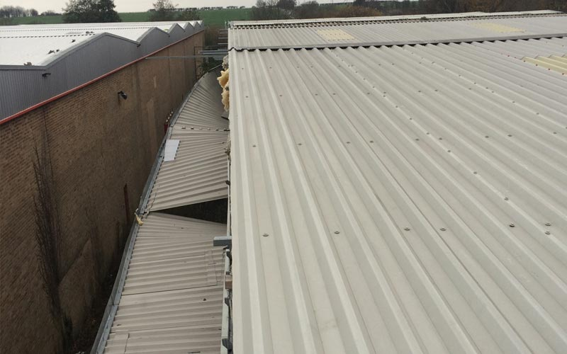 Storm damage to industrial roofing in Birmingham