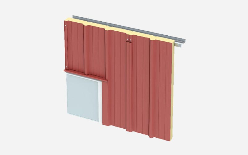 Kingspan Trapezoidal Secret-Fix wall panel