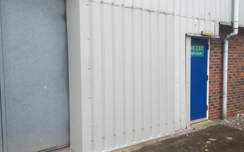 Industrial unit metal profile match to cladding
