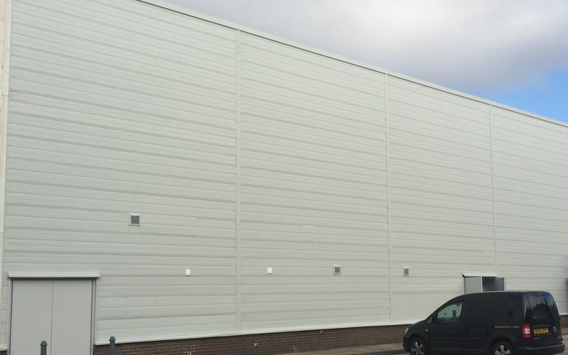 Industrial unit overspray to freshen the look of the building