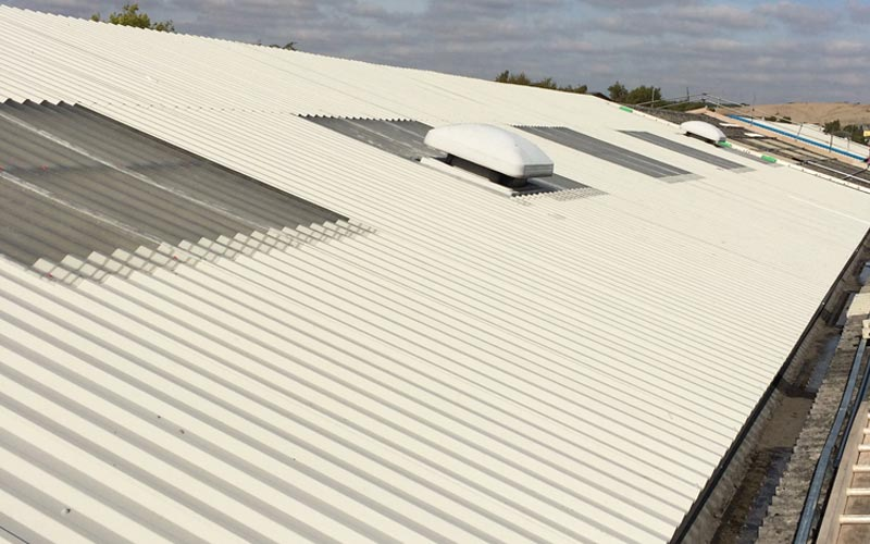 Overclad to asbestos roofing in Birmingham