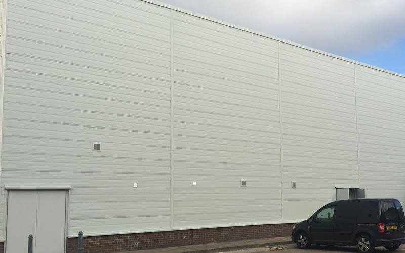 Giromax Delcote wall cladding coating in Birmingham