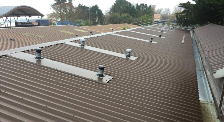 New roof overclad with dektites and soaker flashings and pre galvanised gutter