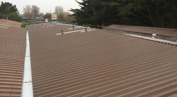 Newly installed pre galvanised 2mm thick valley gutter