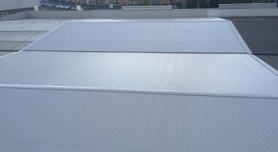 Completed installation of industrial roofing, Giromax and Plygene in Dudley