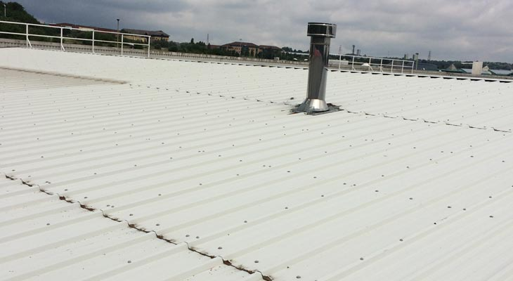 Industrial roofing in Dudley in need of repairs