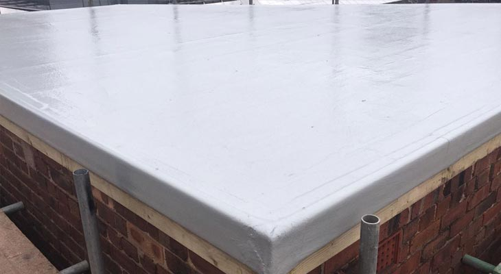 Wider view of the newly installed plant room GRP flat roof in Birmingham
