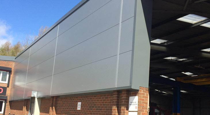 Kingspan Wall Cladding And Industrial Roofing In Dudley