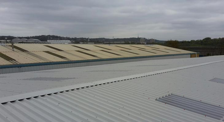 Roofing overclad completed and fully stitched down