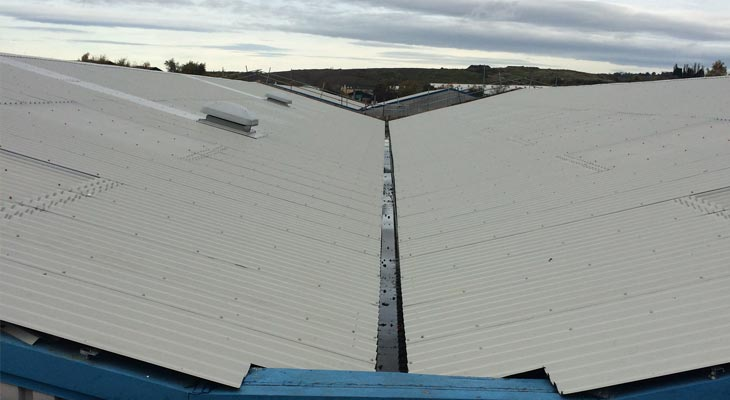 Completed view of overclad from loading platform