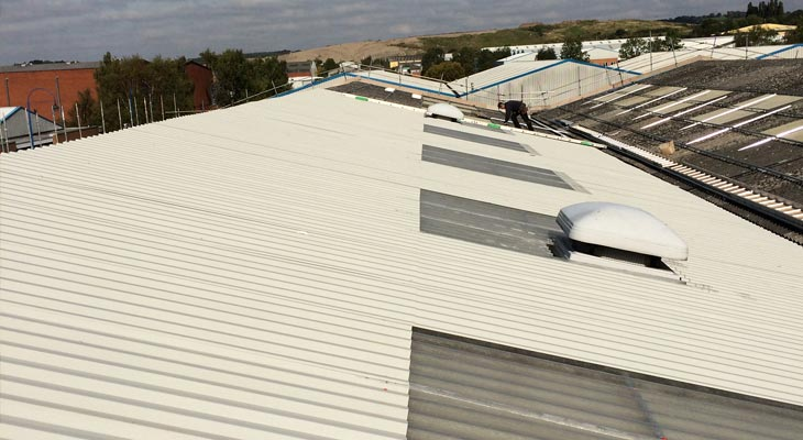 Coverclad industrial roofing installers in Dudley