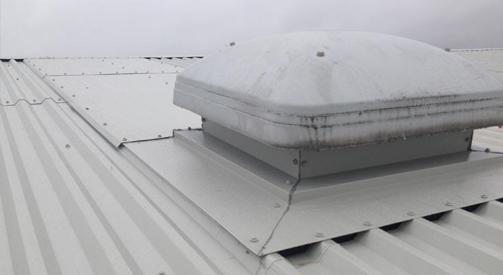 Soaker flashing taken down past roof penetration