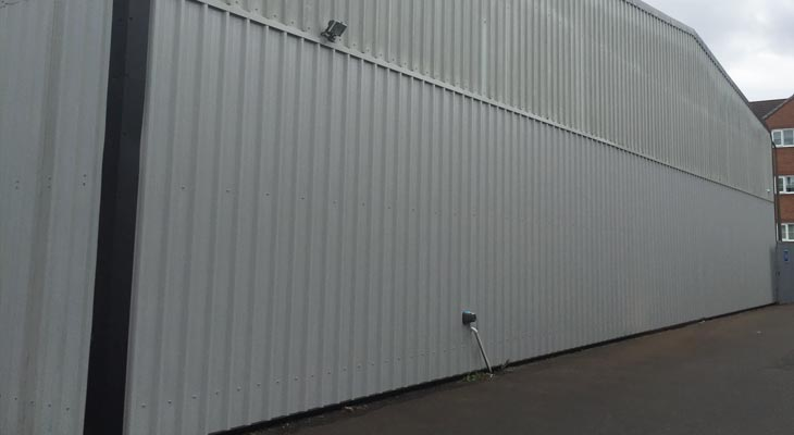 Completed replacement of wall cladding sheets in Birmingham