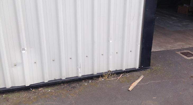 Isolated dents to wall cladding in Birmingham