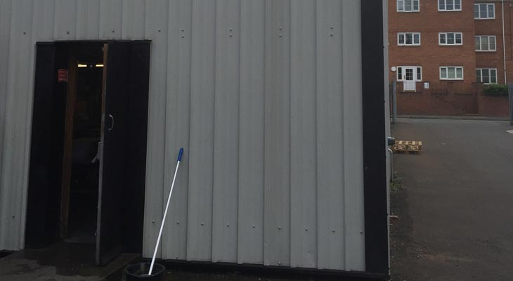 Wall cladding sheets recycled and reinstated