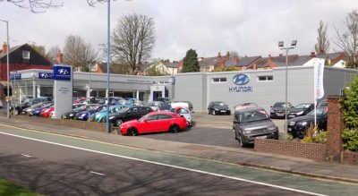 Vehicle showroom Kingspan overcladding in Birmingham