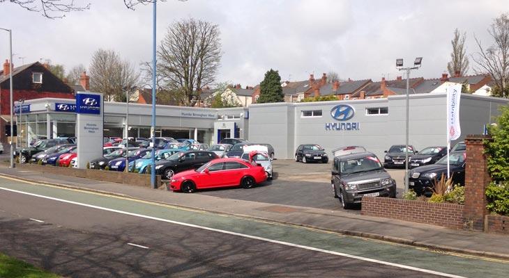 Vehicle showroom Kingspan overcladding in Birmingham