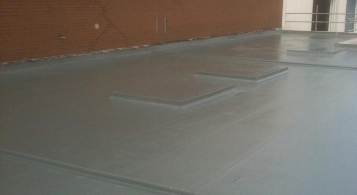 GRP roofing installed to the lower flat roof