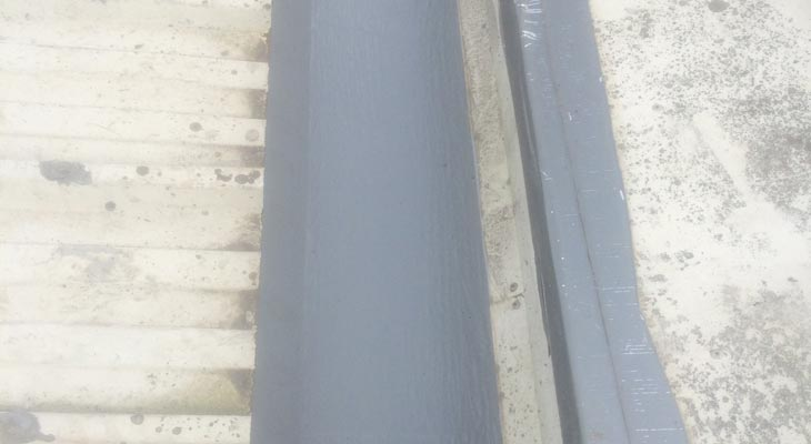 Completed view of the Giromax High Performance Gutter Installation In Cardiff