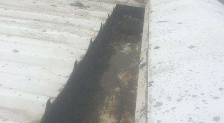 Industrial gutter cleaning in Cardiff
