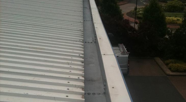 Giromax HPG topcoat applied to perimeter gutter