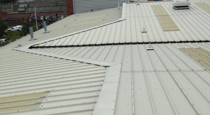 Completed industrial roofing dilapidation works in Wolverhampton