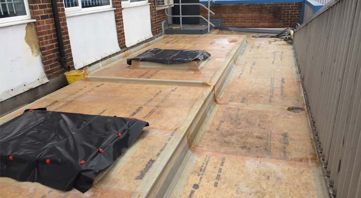 GRP applied to structural deck