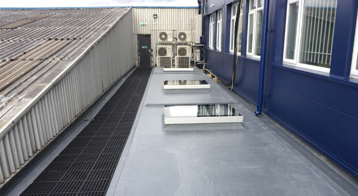 GRP flat roofing in London