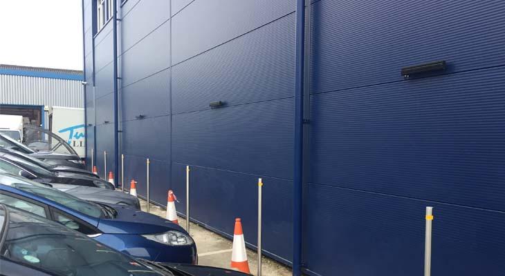 Parking bollards installed