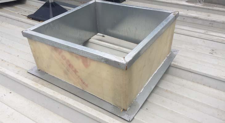 Aluminium purlin boxes with celotex insulation