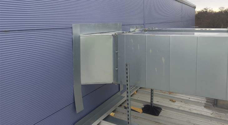 Existing ductwork and services