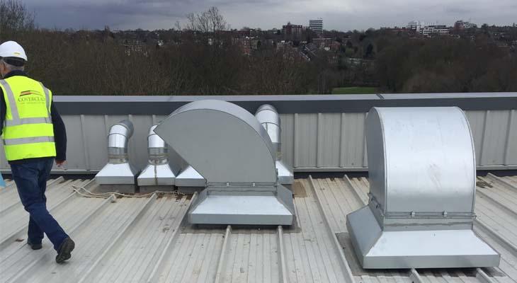 Metallic cowls installed