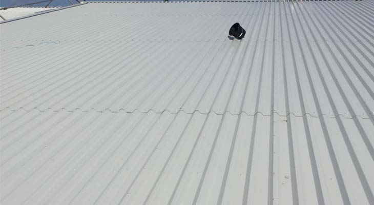 Completed industrial roofing in Wolverhampton