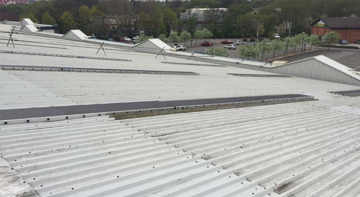 Roof stagings over existing rooflights