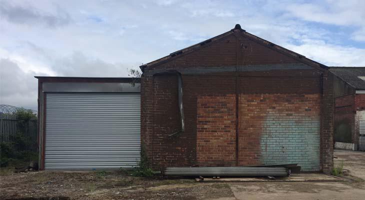 Derelict building gable end