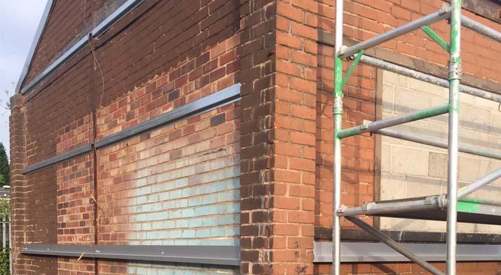 Installing grid system to existing brickwork