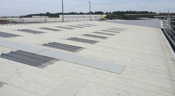 Completed industrial roofing repairs in Banbury