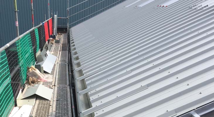 View of completed Kingspan roofing installation in West Bromwich