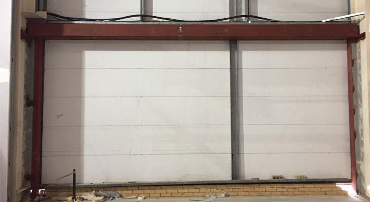Internal blockwork removed and brown steels installed