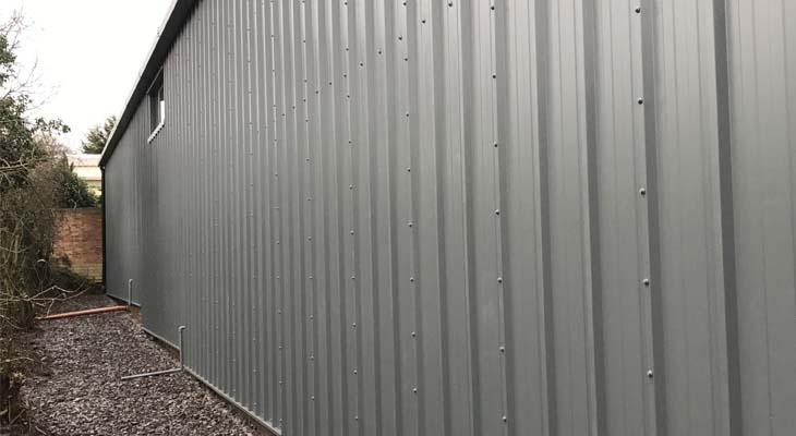 Kingspan RW1000 composite panels installed to rear elevation with step up detail