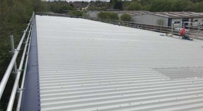 Asbestos roofing overclad in Redditch completed