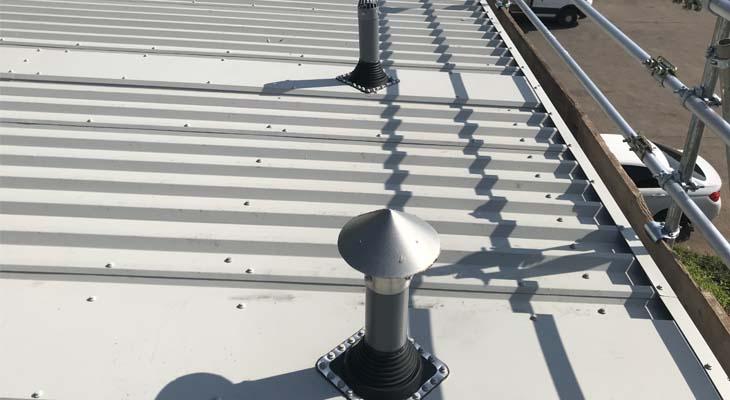 New dektites installed with soaker flashings