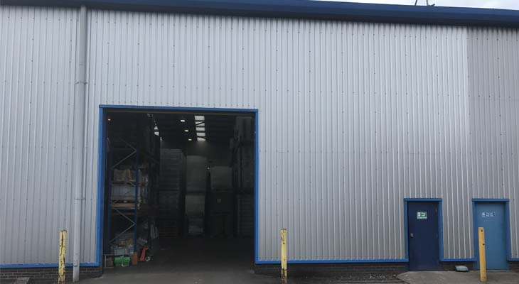 Press brake sheets fabricated and installed to match existing cladding profiles