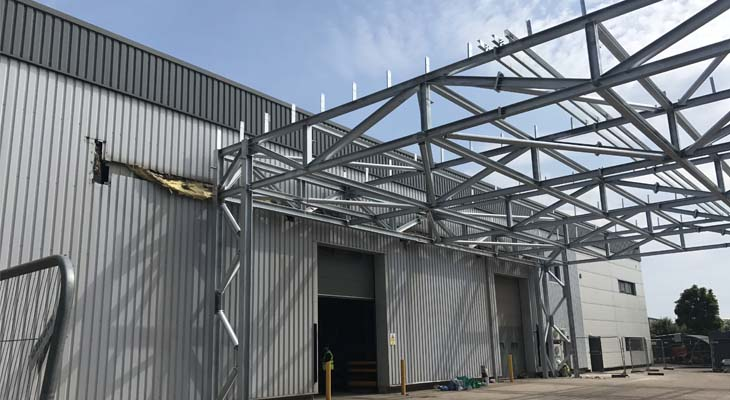 New canopy structure erected by others