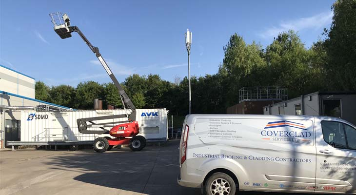 Coverclad Services van and mobile elevating work platform